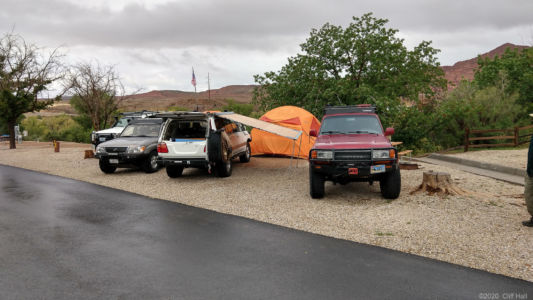 Our camp at St George KOA, rained most of the night