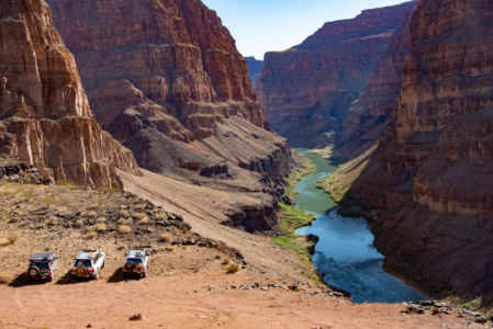 Land Cruisers over the Grand Canyon