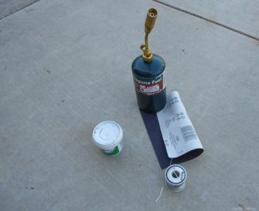 Tools to solder radiator
